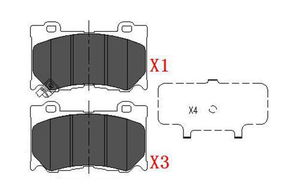 Тормозные колодки передние дисковые MINTEX арт. KBP-6581