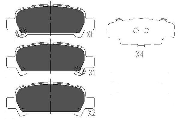 Тормозные колодки дисковые MINTEX арт. KBP-8002