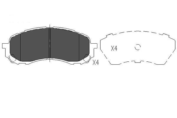 Тормозные колодки дисковые MINTEX арт. KBP-8018