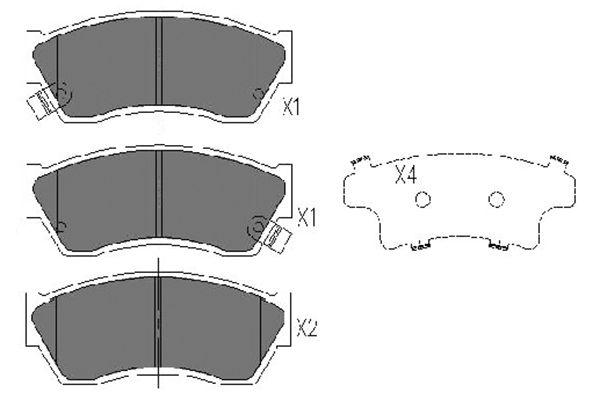 Тормозные колодки дисковые MINTEX арт. KBP-8504