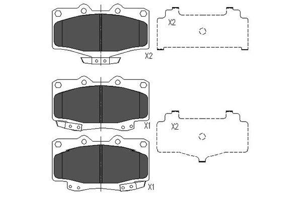 Тормозные колодки дисковые MINTEX арт. KBP-9004