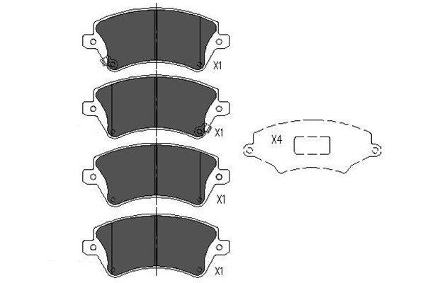 Тормозные колодки дисковые MINTEX арт. KBP-9012