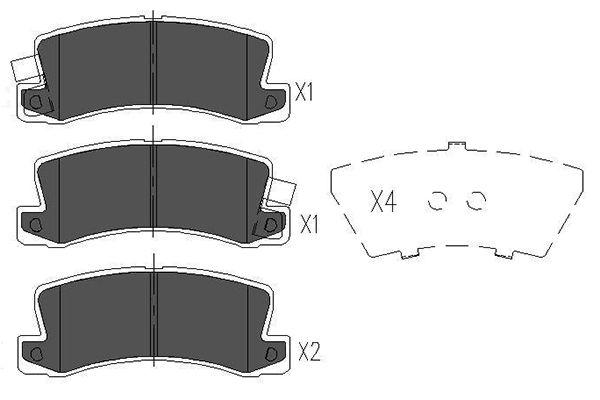 Тормозные колодки задние дисковые MINTEX арт. KBP-9022