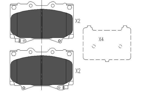Тормозные колодки дисковые MINTEX арт. KBP-9049