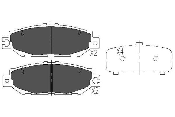 Тормозные колодки дисковые MINTEX арт. KBP-9064
