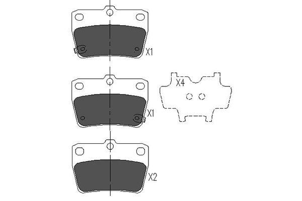 Тормозные колодки задние дисковые MINTEX арт. KBP-9068