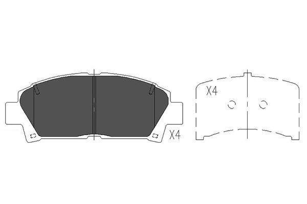 Тормозные колодки дисковые MINTEX арт. KBP-9110