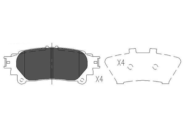 Тормозные колодки дисковые MINTEX арт. KBP-9111