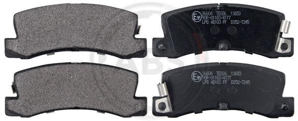 Тормозные колодки задние дисковые MINTEX арт. 36604