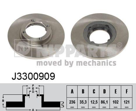 Тормозной диск MINTEX арт. J3300909