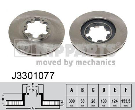 Тормозной диск MINTEX арт. J3301077