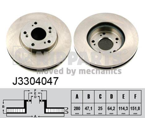 Тормозной диск MINTEX арт. J3304047
