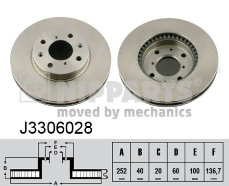 Тормозной диск MINTEX арт. NP J3306028