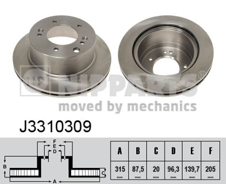 Тормозной диск MINTEX арт. J3310309
