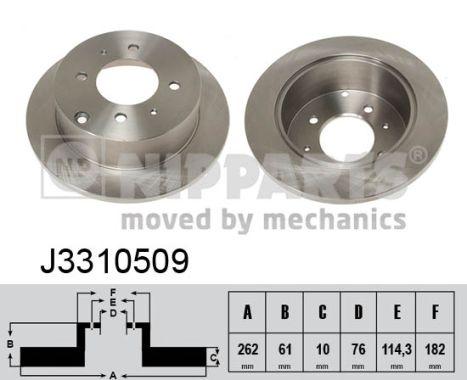 Тормозной диск MINTEX арт. J3310509