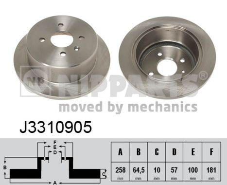 Тормозной диск MINTEX арт. J3310905