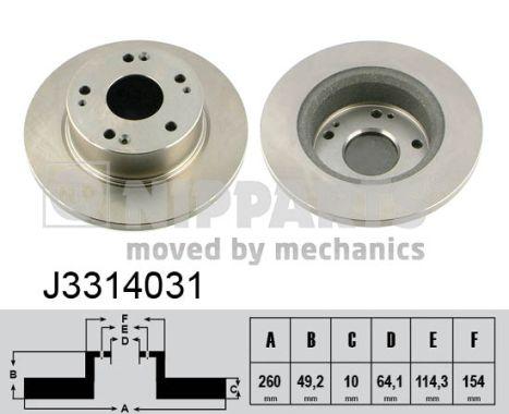 Тормозной диск MINTEX арт. J3314031