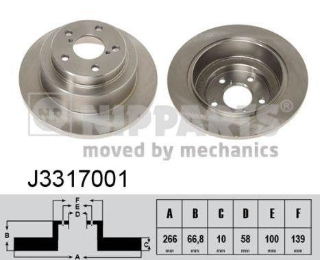 Тормозной диск MINTEX арт. J3317001