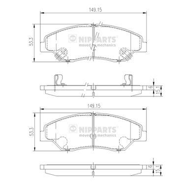 Тормозные колодки дисковые MINTEX арт. J3600309