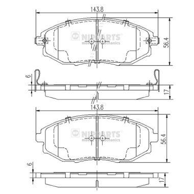 Тормозные колодки дисковые MINTEX арт. J3600912