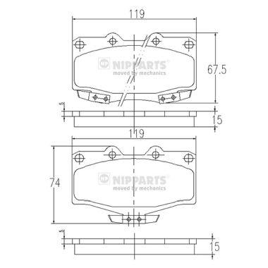 Тормозные колодки дисковые MINTEX арт. J3602054
