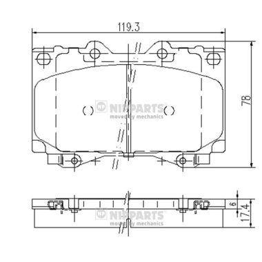 Тормозные колодки дисковые MINTEX арт. J3602097