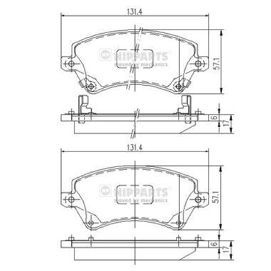 Тормозные колодки дисковые MINTEX арт. J3602101