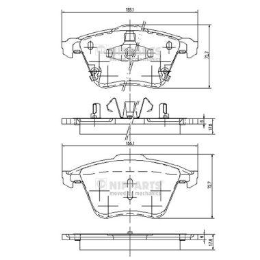 Тормозные колодки дисковые MINTEX арт. J3603067