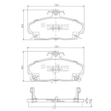 Тормозные колодки дисковые MINTEX арт. J3604031