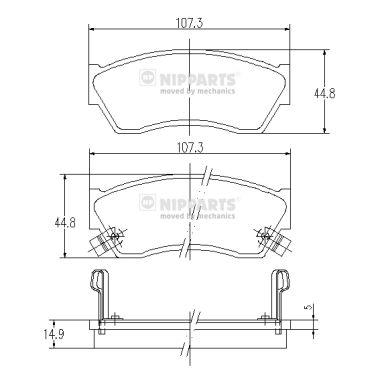 Тормозные колодки дисковые MINTEX арт. J3608005