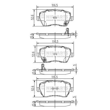 Тормозные колодки дисковые MINTEX арт. J3608026