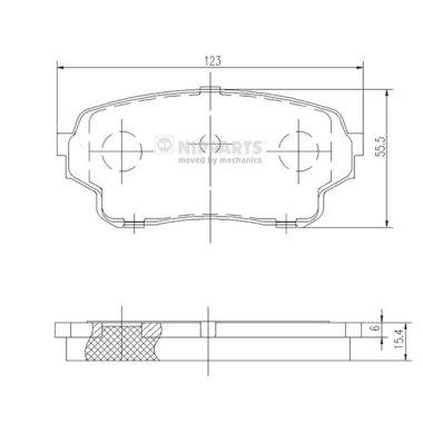 Тормозные колодки дисковые MINTEX арт. J3608027