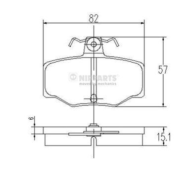 Тормозные колодки дисковые MINTEX арт. J3611031