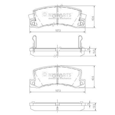 Тормозные колодки дисковые MINTEX арт. J3612013