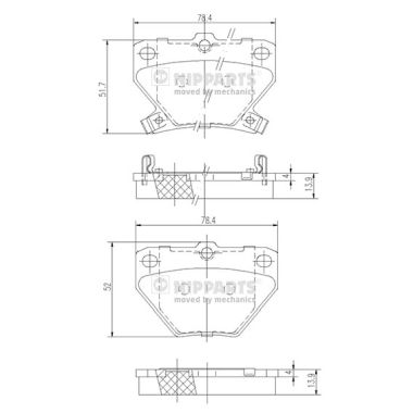 Тормозные колодки дисковые MINTEX арт. J3612018