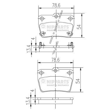 Тормозные колодки дисковые MINTEX арт. J3612020