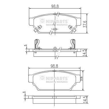 Тормозные колодки дисковые MINTEX арт. J3615004