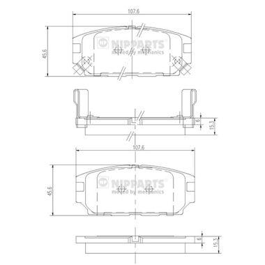 Тормозные колодки дисковые MINTEX арт. J3615007