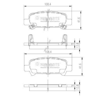 Тормозные колодки дисковые MINTEX арт. J3617002