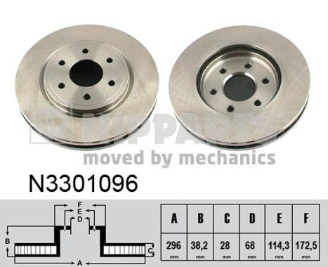Тормозной диск MINTEX арт. N3301096