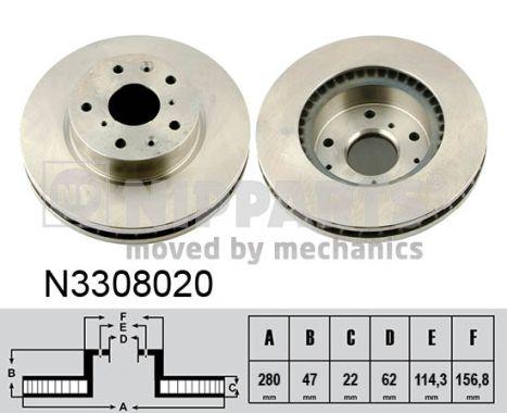 Тормозной диск MINTEX арт. N3308020