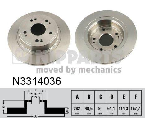 Тормозной диск MINTEX арт. N3314036