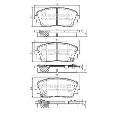 Тормозные колодки дисковые MINTEX арт. N3600332