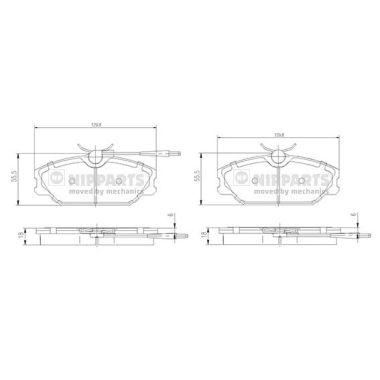 Тормозные колодки дисковые MINTEX арт. N3600917