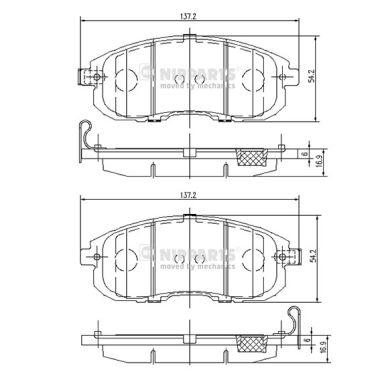 Тормозные колодки дисковые MINTEX арт. N3601099