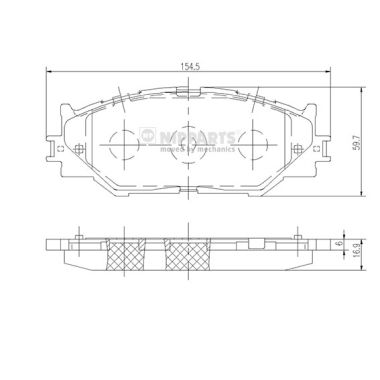 Тормозные колодки дисковые MINTEX арт. N3602128