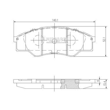Тормозные колодки дисковые MINTEX арт. N3602137