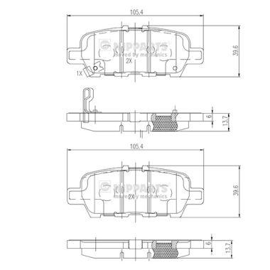 Тормозные колодки дисковые MINTEX арт. N3611051