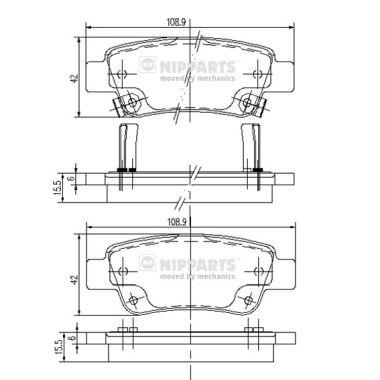 Тормозные колодки дисковые MINTEX арт. N3614019