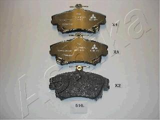 Тормозные колодки дисковые MINTEX арт. 50-05-516